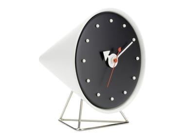 Table-top polyurethane clock CONE CLOCK
