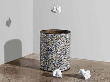 Recycled plastic waste paper bin CONFETTI | Waste paper bin
