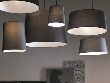 Fabric pendant lamp CONI