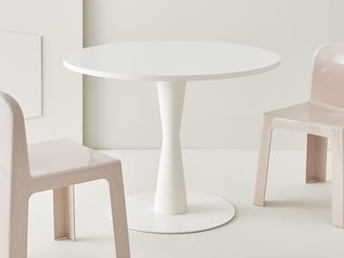 Round Powder Coated Steel Table CONI