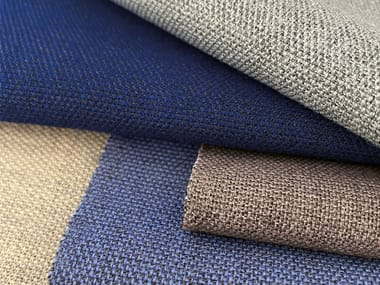 Solid-color wool upholstery fabric CONNECT