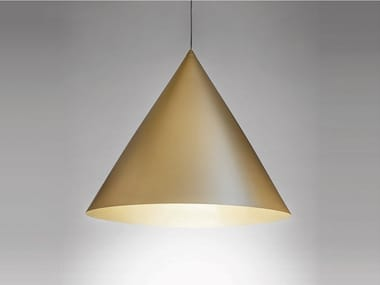 Lampada a sospensione a LED in acciaio CONO LARGE