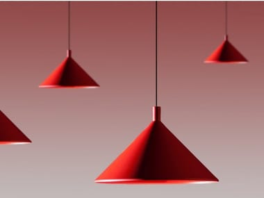 Direct light aluminium pendant lamp CONO