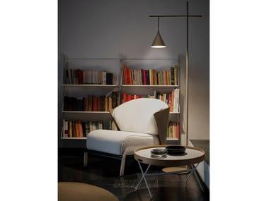 Lampada da terra a LED da lettura in alluminio CONO | Lampada da terra da lettura