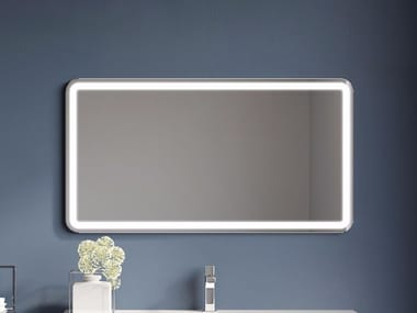 Wall-mounted bathroom mirror with integrated lighting CONSOLLE | Mirror
