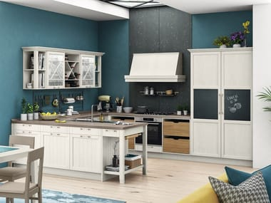 Lacquered fitted kitchen with peninsula CONTEMPO | Kitchen with peninsula
