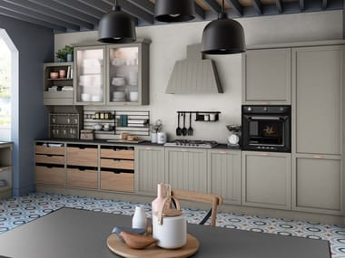 Lacquered linear kitchen with handles CONTEMPO | Linear kitchen