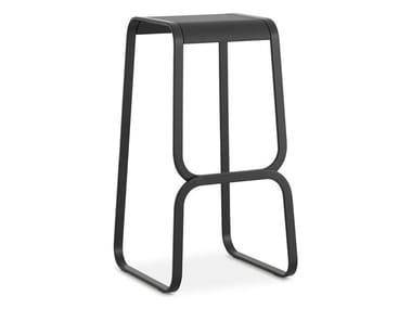 High steel stool CONTINUUM
