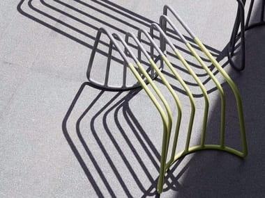 Low steel garden stool CONTOUR | Stool
