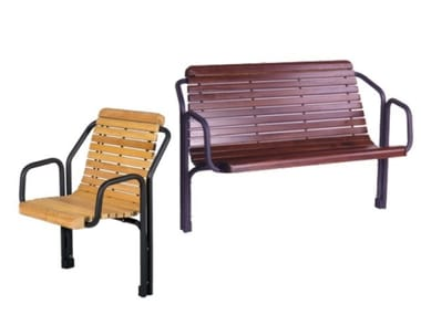 Seduta da esterni in legno CONTOUR | Seduta da esterni in legno