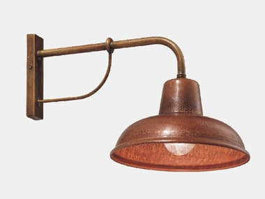 Direct light metal wall lamp with fixed arm CONTRADA 243.05.OR