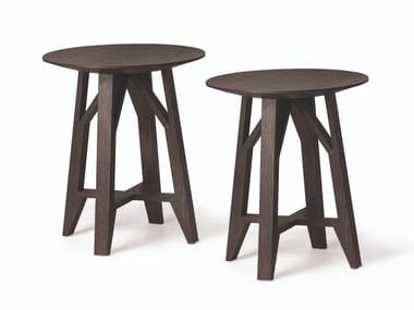 Round solid wood coffee table CONTROVENTO | Coffee table