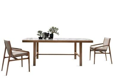 Rectangular wooden living room table CONVIVIO