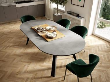 Extending eco woood table CONVIVIO