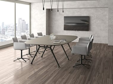 Meeting table with cable management CONVO | Meeting table