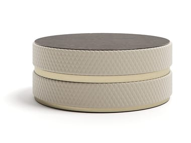 Round fabric coffee table COOKIE 100