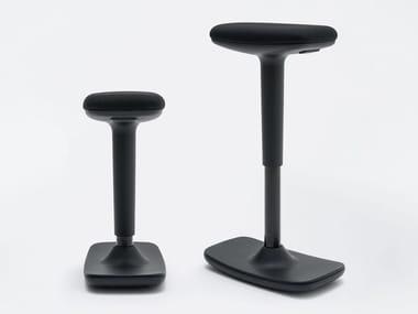 Height-adjustable Rocker Trevira® CS office stool COOL