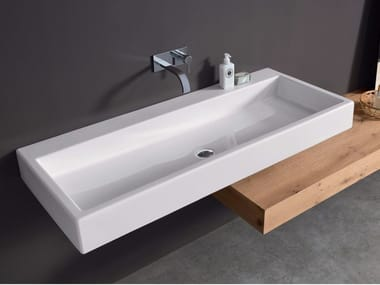 Rectangular ceramic washbasin COOL | Rectangular washbasin
