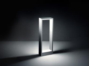 Borne d'éclairage LED en aluminium de style contemporain COOL SQUARE LONG | Borne d'éclairage