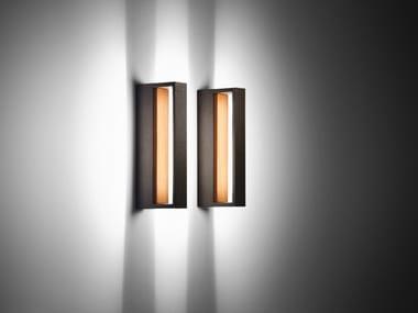 LED indirect light aluminium and wood Outdoor wall Lamp COOL WOOD | Outdoor wall Lamp