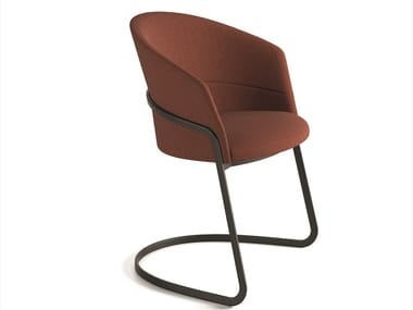 Cantilever upholstered chair COPA | Cantilever chair