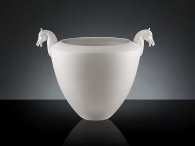 Handmade ceramic vase COPPA  HORSE