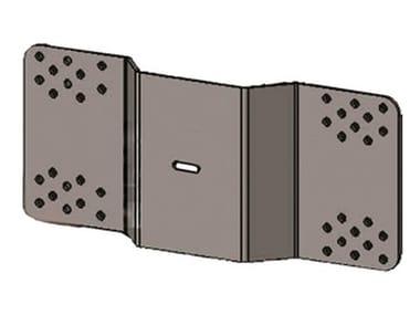 Modulo per scala in alluminio COPPIA PIASTRE FISSAGGIO SU LAMIERA