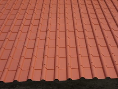 Metal bent roof tile COPPO CORINZIO