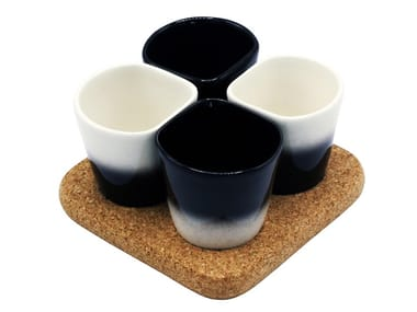 Earthenware cup with cork saucer COPUS 3.0
