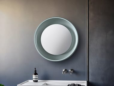 Round framed wall-mounted mirror COQUE