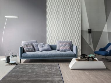 Upholstered fabric sofa CORAL
