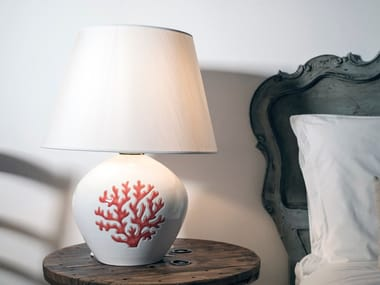Direct-indirect light ceramic bedside lamp CORALLO | Bedside lamp