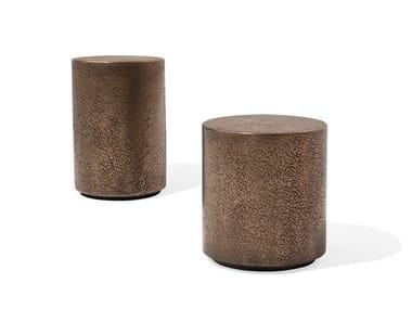 Round metal coffee table CORALLO