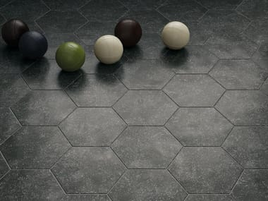 Anti-slip indoor/outdoor wall/floor tiles with granite effect CORALSTONE