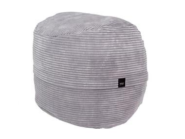 Round polyester bean bag pouf CORD VELOURS FOOTSAK