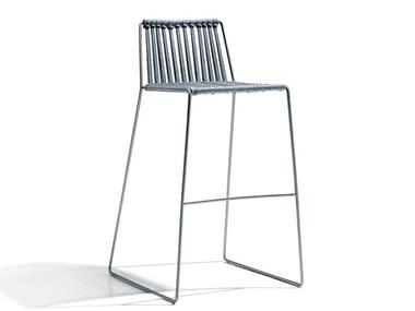 Sled base polyester stool CORDULA | Polyester stool