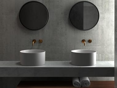 Round ceramic washbasin CORE20