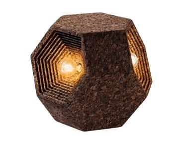 LED cork wall lamp CORKAHEDRON TRILIGHT