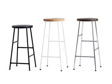 Steel and wood barstool CORNET