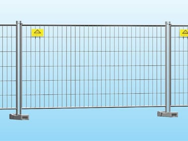 Construction site fencing and garages