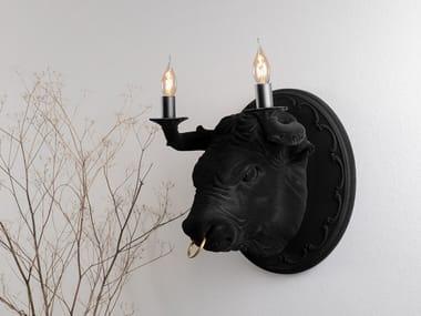 Lampada da parete a LED in ceramica CORRADO