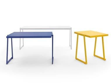 Stackable powder coated aluminium table CORTINA.026   Table