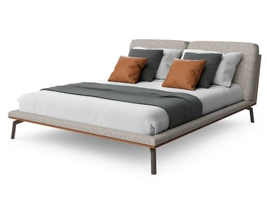 Fabric double bed with upholstered headboard COSILY | Bed
