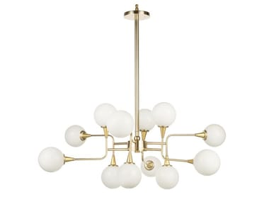 LED brass chandelier TIMELESS COSMO 01