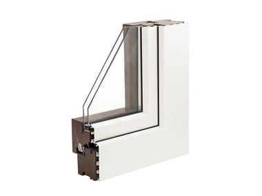 Finestra in legno con doppio vetro COSMO68 FLAT