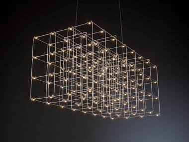 Lampada a sospensione a LED in metallo COSMOS SQUARE | Lampada a sospensione