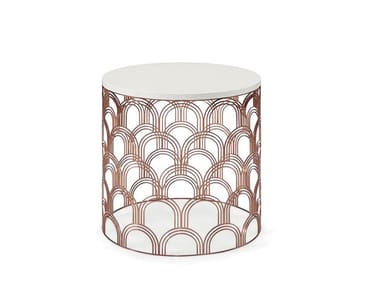 Round steel side table COSMOS | Side table