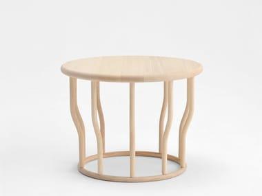 Mesa de centro de café redonda de madeira COSSE | Mesa de centro de madeira