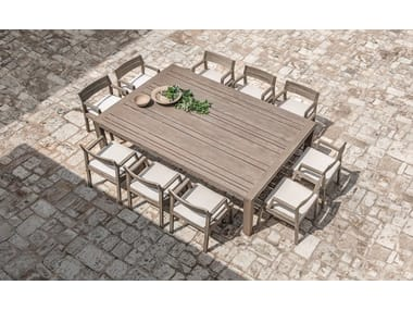 Rectangular wooden garden table COSTES | Garden table
