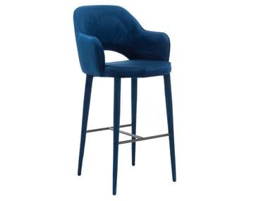 High velvet barstool with fire retardant padding COSY | Velvet stool